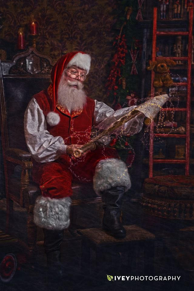 For a fine art Christmas portrait with Santa Chuck, call Ivey Photography at 972-723-2464!